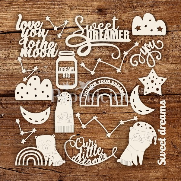 Dream Big- 6x12 Inch Laser Cut Theme Chipboard