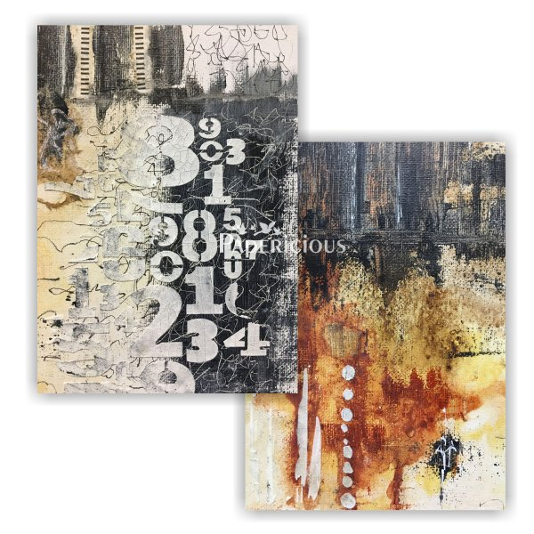 Papericious - Decoupage Papers - Canvas Studio - A4 size