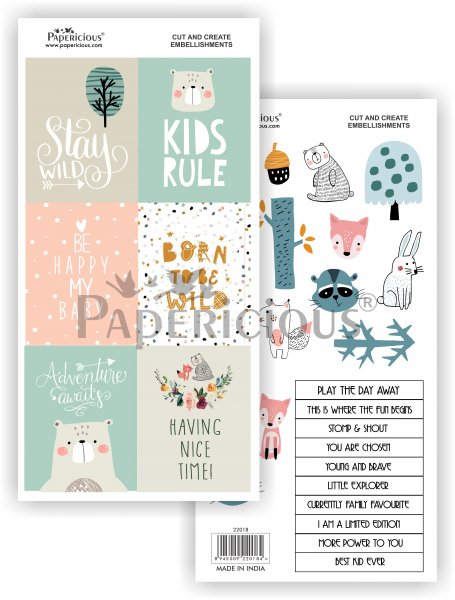 Papericious - Woodland Walk -  Cut & Create Embellishments 6x12inch