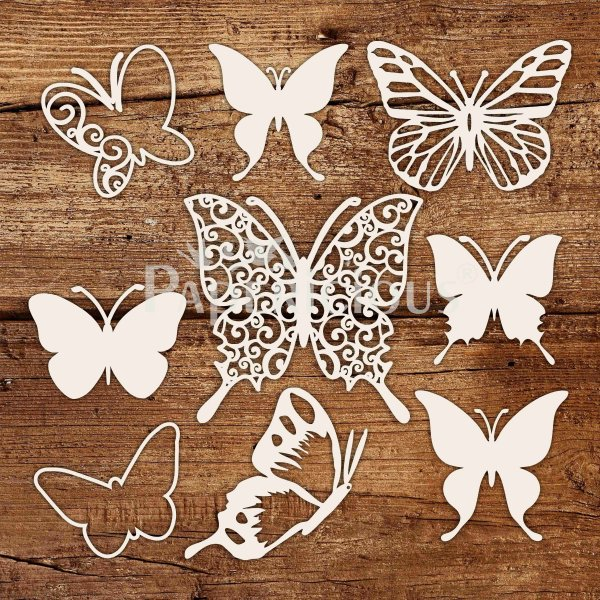 Butterfly - 6x6 Inch Laser Cut Collage Chipboard (1.4mm)