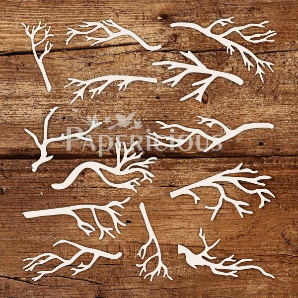 Branches - 6x6 Inch Laser Cut Collage Chipboard (1.4mm)