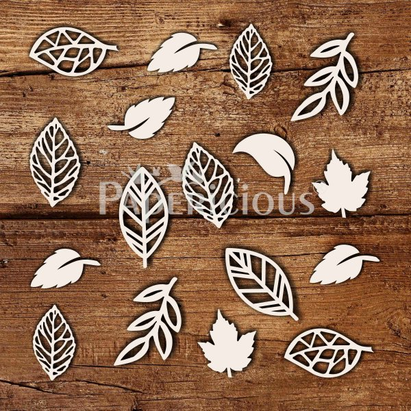 Leaves - 6x6 Inch Laser Cut Collage Chipboard (1.4mm)