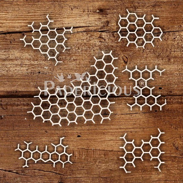 Honeycomb - 6x6 Inch Laser Cut Collage Chipboard (1.4mm)