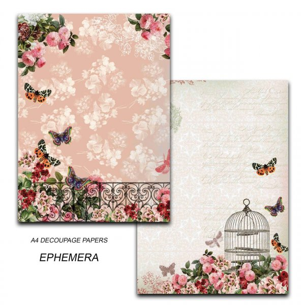 Papericious - Decoupage Papers - Ephemera - A4 size