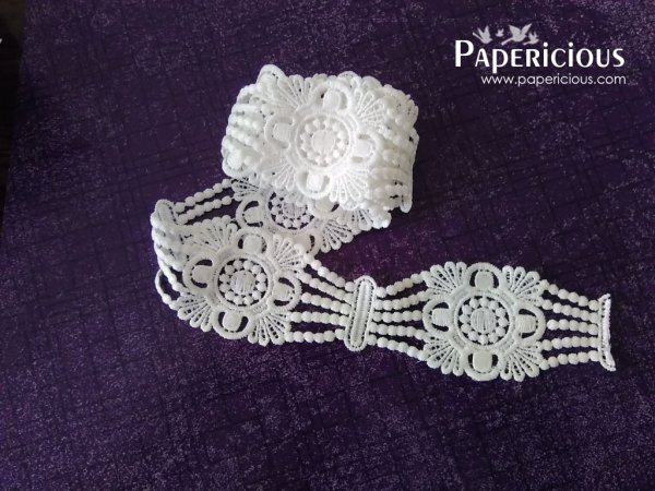 PAPERICIOUS - Fancy Chain Lace / 1 yards
