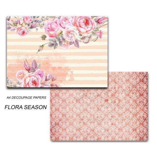 Papericious - Decoupage Papers - Flora Season - A4 size