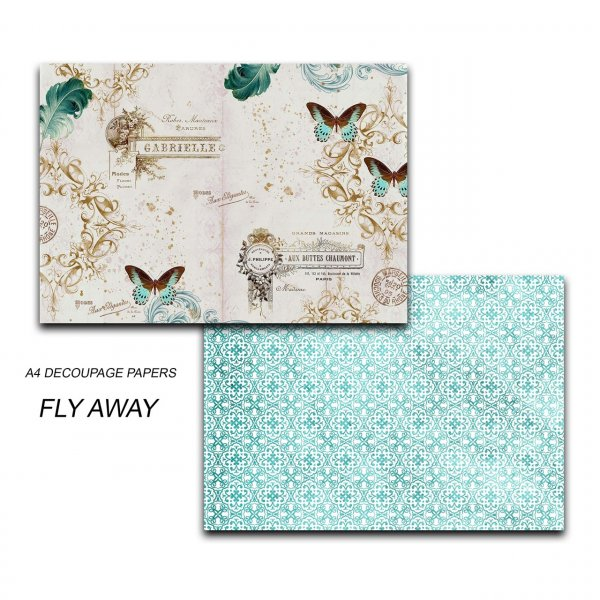 Papericious - Decoupage Papers - Fly Away - A4 size