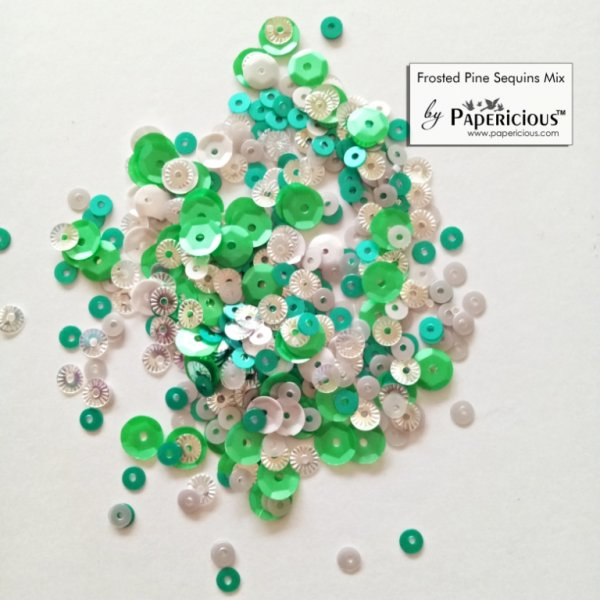 Papericious - Shaker Sequins Mix  - Frosted Pine