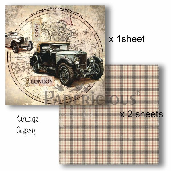 Papericious - Decoupage Papers - Vintage Gypsy
