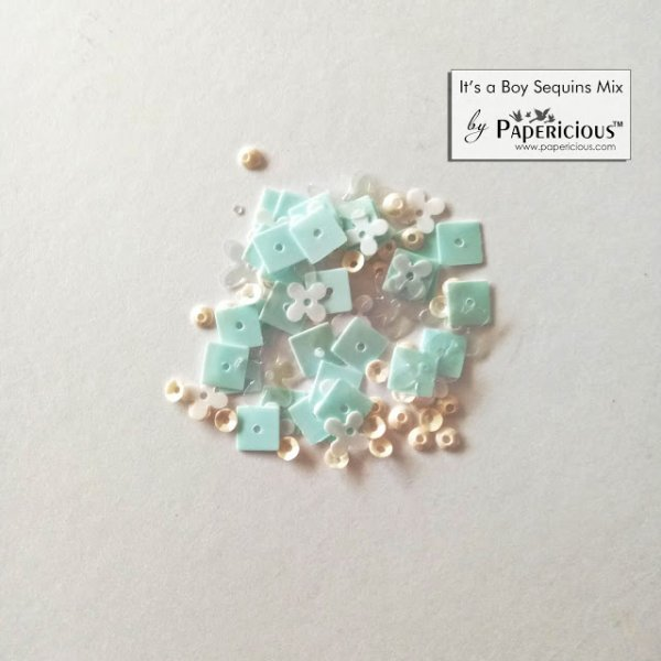 Papericious - Shaker Sequins Mix  - Its a boy