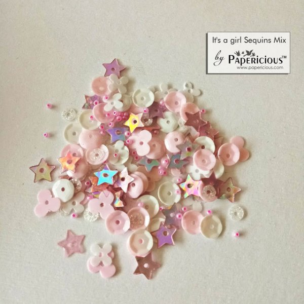 Papericious - Shaker Sequins Mix  - Its a girl