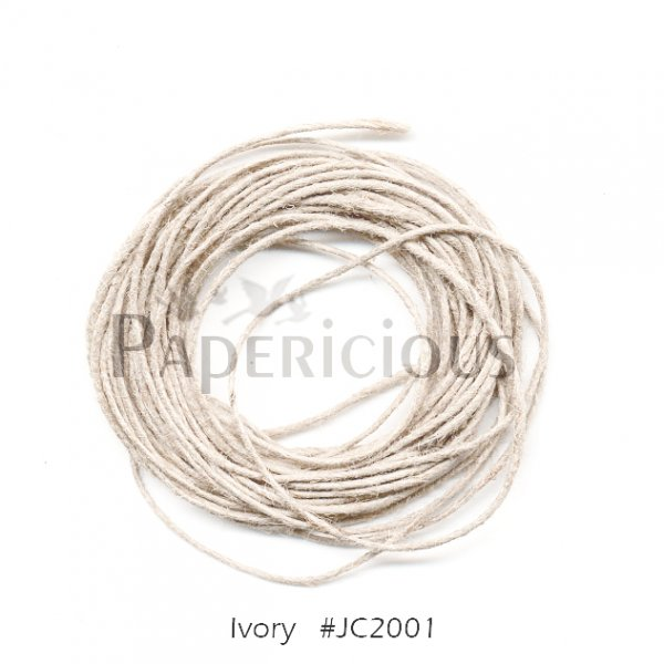 PAPERICIOUS - Ivory Jute Cord - 1.2mm thick of 5 yards