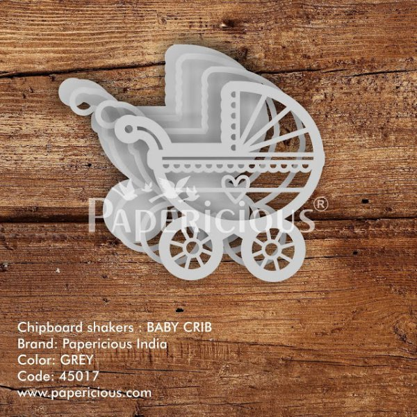 Laser Cut 3D Shaker Chipboard (1.4mm) - Baby Crib