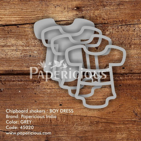 Laser Cut 3D Shaker Chipboard (1.4mm) - Boy Dress