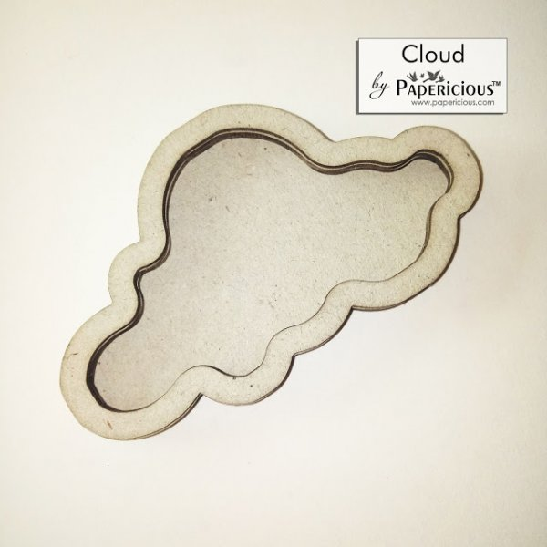 Laser Cut 3D Shaker Chipboard (1.4mm) - Cloud