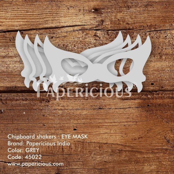 Laser Cut 3D Shaker Chipboard (1.4mm) - Eye Mask