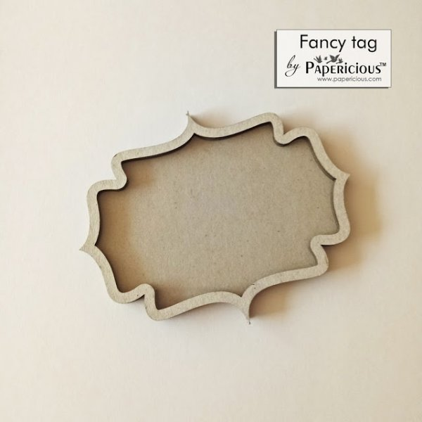 Laser Cut 3D Shaker Chipboard (1.4mm) - Fancy Tag