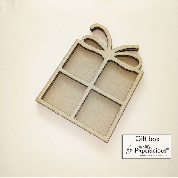 Laser Cut 3D Shaker Chipboard (1.4mm) - Gift Box