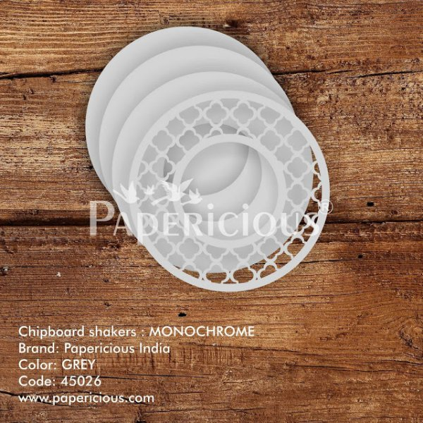 Laser Cut 3D Shaker Chipboard (1.4mm) - Monochrome