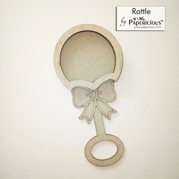 Laser Cut 3D Shaker Chipboard (1.4mm) - Rattle