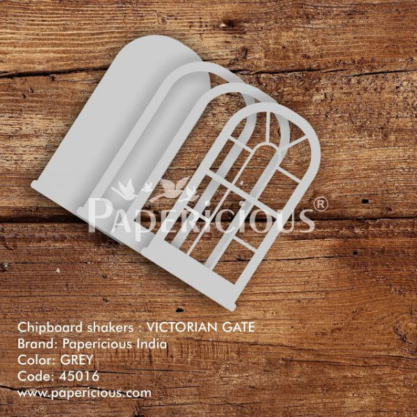 Laser Cut 3D Shaker Chipboard (1.4mm) - Victorian Gate