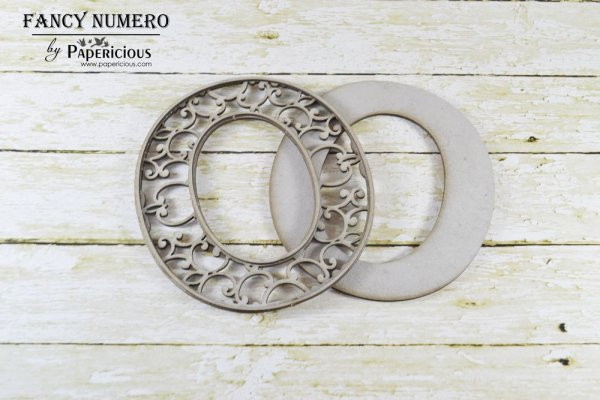 Number 0 (Zero) -  Laser Cut AlphaNumerals Chipboard (1.4mm)