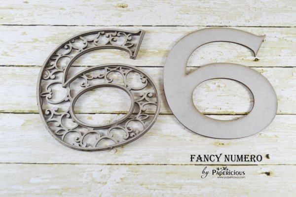 Number 6 (Six) - Laser Cut AlphaNumerals Chipboard (1.4mm)