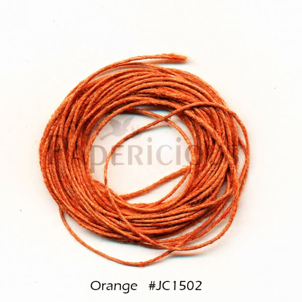PAPERICIOUS - Orange Jute Cord - 1.2mm thick of 5 yards