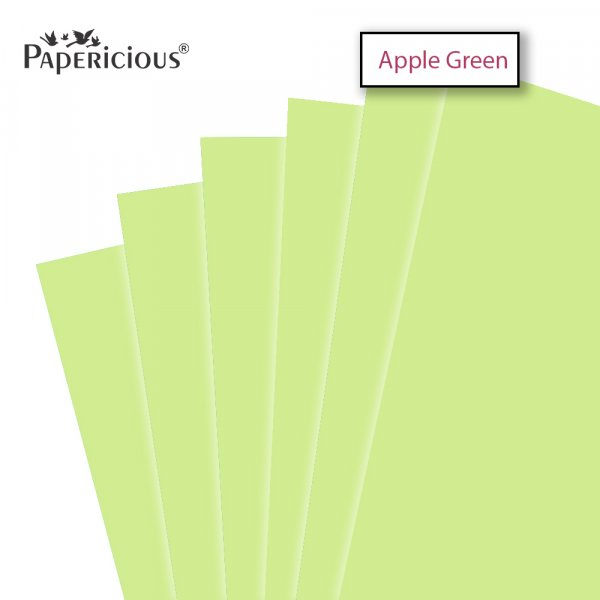 PAPERICIOUS - Apple Green - 250GSM Colored Cardstock 12x12 inch / 10 Sheets