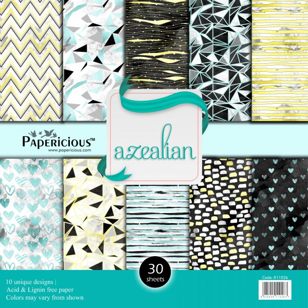 PAPERICIOUS - Azalein -  Designer Pattern Printed Scrapbook Papers  / 30 sheets