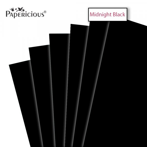 PAPERICIOUS - Black - 250GSM Colored Cardstock 12x12 inch / 10 Sheets