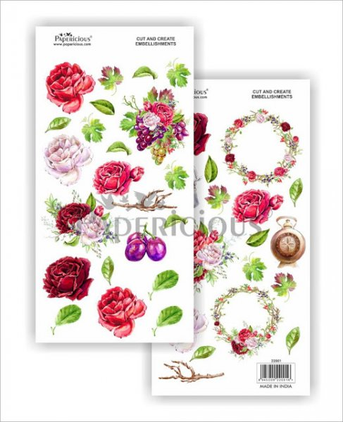 Papericious - Blooms N Berries -  Cut & Create Embellishments 6x12inch