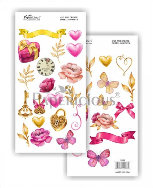 Papericious - Blush -  Cut & Create Embellishments 6x12inch