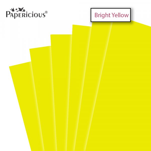 PAPERICIOUS - Bright Yellow - 250GSM Colored Cardstock 12x12 inch / 10 Sheets