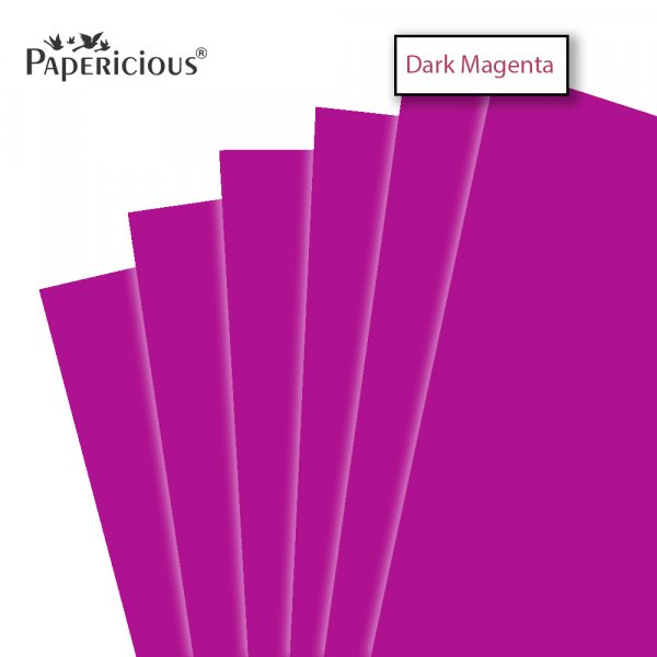 PAPERICIOUS - Dark Magenta - 250GSM Colored Cardstock 12x12 inch / 10 Sheets