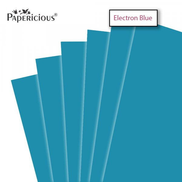 PAPERICIOUS - Electron Blue - 250GSM Colored Cardstock 12x12 inch / 10 Sheets