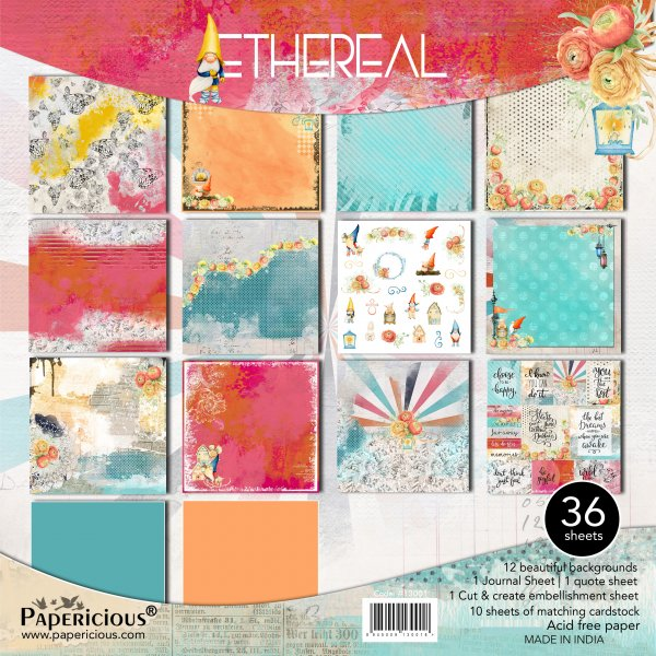 PAPERICIOUS - Ethereal -  Designer Pattern Printed Scrapbook Papers 12x12 inch / 36 sheets