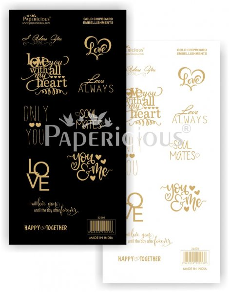 Papericious - Happy Together - Die-Cut Embellishment - Motif Sheets