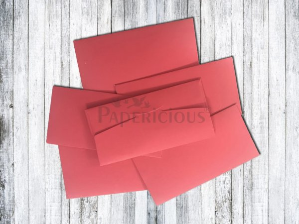 Papericious - Hot Red- Cash Envelope 6 Pcs