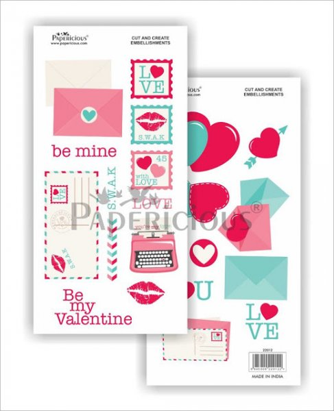 Papericious - I Love You -  Cut & Create Embellishments 6x12inch