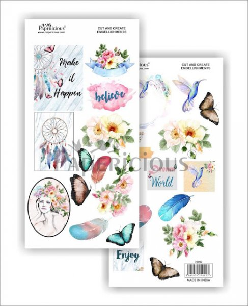 Papericious - Indie Chic -  Cut & Create Embellishments 6x12inch
