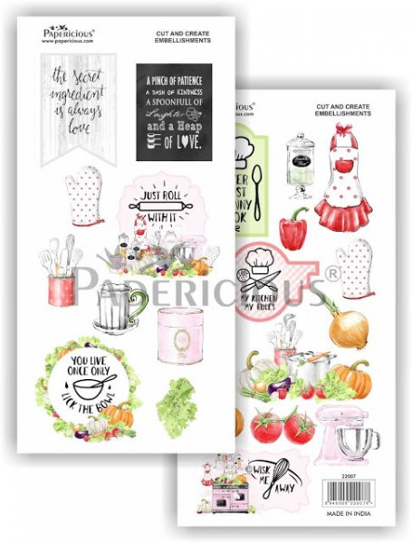 Papericious - Kiss the Cook -  Cut & Create Embellishments 6x12inch