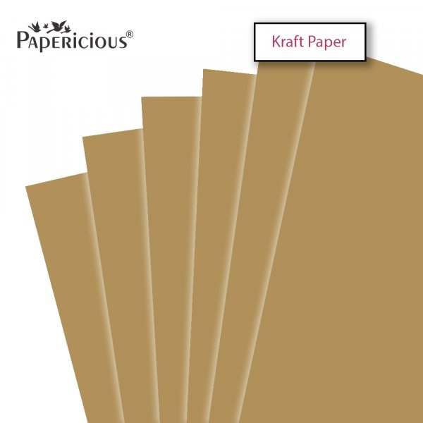PAPERICIOUS - Kraft Paper - 250GSM Colored Cardstock 12x12 inch / 10 Sheets