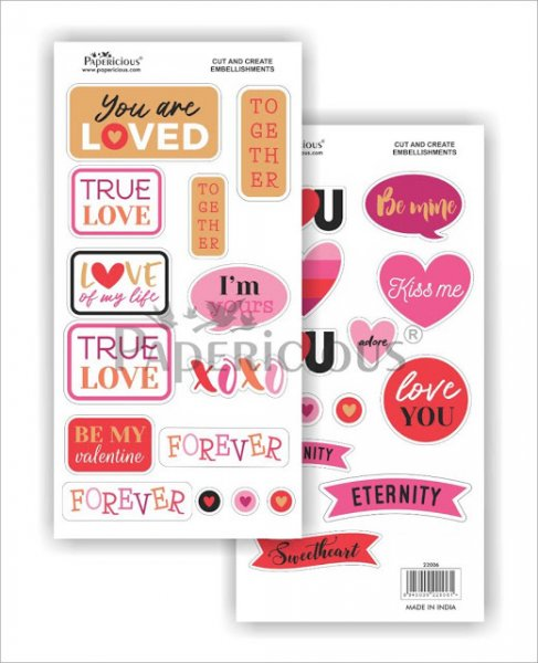 Papericious - Love Actually -  Cut & Create Embellishments 6x12inch