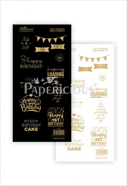 Papericious - Make a Wish - Die-Cut Embellishment- Motif Sheet