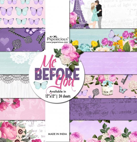 PAPERICIOUS - Me Before You -  Designer Pattern Printed Scrapbook Papers 12x12 inch  / 24 sheets