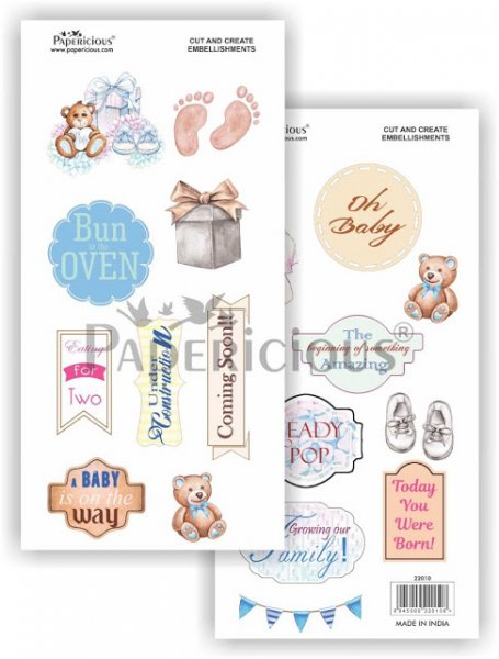 Papericious - Mom to be -  Cut & Create Embellishments 6x12inch