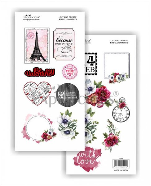 Papericious - Perfect Affair -  Cut & Create Embellishments 6x12inch