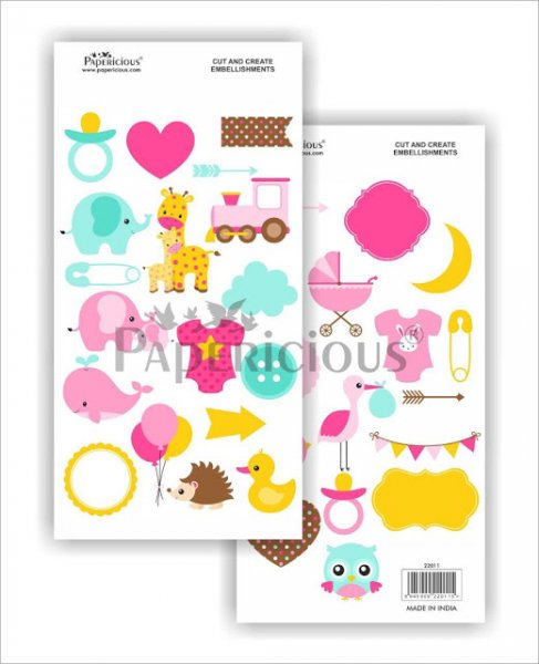 Papericious - Pretty Pixie -  Cut & Create Embellishments 6x12inch