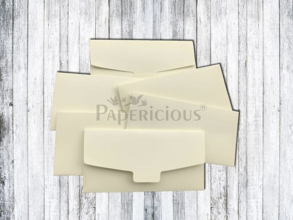 Papericious - Soft Creamish - Cash Envelope 6Pcs